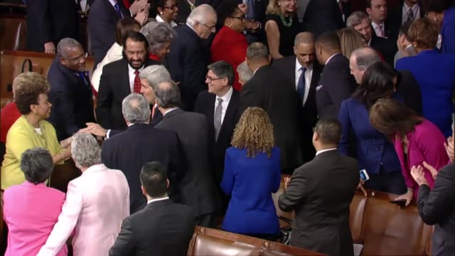 Department secretaries formally enter the House for the State of the Union address One member of the cabinet stays offsite to maintain continuity in...