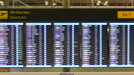 departure flight monitor in the airport