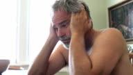 depressed middle aged man