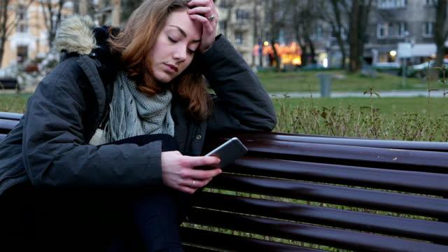 Deprimerad tonåring flicka