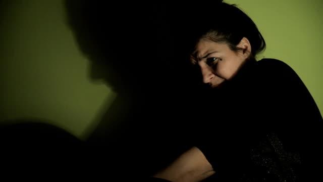Ein deprimierter Frau