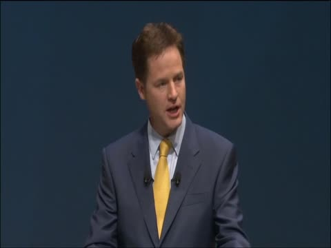 Deputy Prime Minister Nick Clegg talks of 'changing Brition for good' at Liberal Democrat party conference