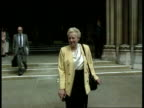 Derek Bentley battle for posthumous pardon ENGLAND London Royal Courts of Justice Iris Bentley along towards from court to camera CMS Iris Bentley...