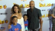 Derek Fisher Gloria Govan Isaiah Barnes and Carter Barnes at The Los Angeles Premiere of 'The Nut Job 2 Nutty By Nature' at Regal Cinemas LA Live on...