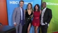 Derek Hough Jennifer Lopez Jenna Dewan Tatum NeYo at the 2017 NBCUniversal Summer Press Day on March 21 2017 in Beverly Hills California