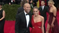 Derek Jeter and Hannah Davis at 'China Through The Looking Glass' Costume Institute Benefit Gala Arrivals at Metropolitan Museum of Art on May 04...
