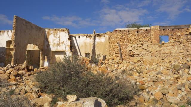 derelict old stone farm house