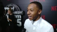 INTERVIEW DeRon Horton on the impact of Def Comedy Jam on why Netflix is the best place for this at Netflix Presents 'Def Comedy Jam' 25 Anniversary...