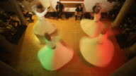 T/L WS HA Dervishes during Sufi whirling, Istanbul, Turkey