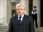 Des Browne statement on helicopter crash ENGLAND London Ministry of Defence EXT Des Browne MP speaking to press SOT On sadness that service personnel...