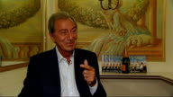 Des O'Connor interview O'Connor interview SOT On keeping fit / Just sensible / Little bit of exercise none of this running for miles / On growing up...