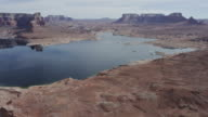 Desert formations of Lake Powell in Arizona and Utah