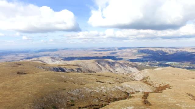 AERIAL: Desert mountain plateau