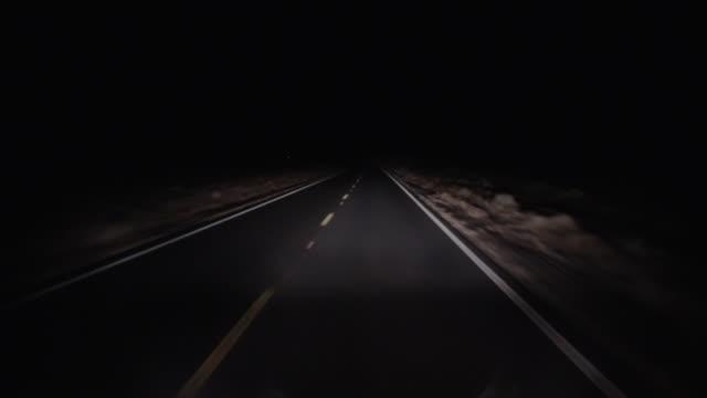 Desert Road at Night