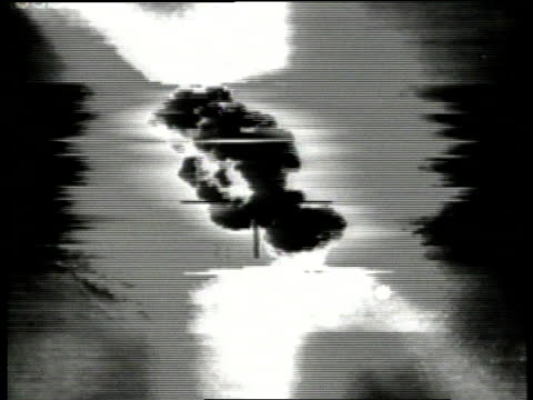 Desert Storm / AERIAL Crosshairs focusing on target for missile strike and target exploding / Kuwait