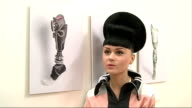 Designer creates prosthetic limbs London INT Viktoria Modesta interview SOT Designer prosthetic legs and arms Various of white and silver jewel...