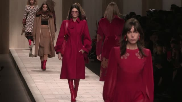 Designer Karl Lagerfeld Bella Gigi Hadid Stella Maxwell Kendall Jenner Romee Strijd and more models on the runway for the Fendi Ready To Wear fall...
