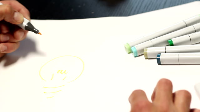 Designer sketching Idea HD