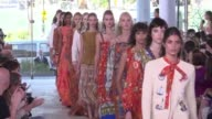 Designer Tory Burch mixed East and West Coast US styles at her New York Fashion Week show at the Whitney Museum on Tuesday with Anna Wintour and...