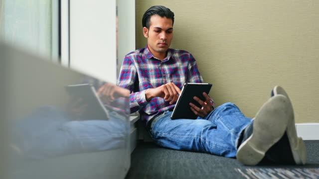 Designer working on digital tablet