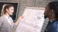 Designers discussing a project.