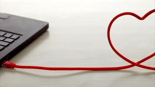 Desk, laptop heart  CO   RO