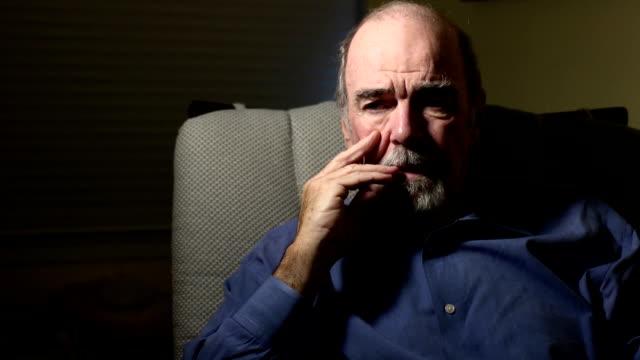 Despairing Senior Man - MS