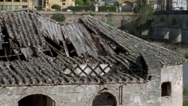 MS, PAN, Destroyed roof and La Mezquita Cathedral,  Cordoba, Andalucia, Spain