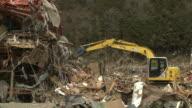 Destruction in Shizugawa city, Miyagi, Japan on 3rd April 2011; after tsunami following Tohuku earthquake of March 2011.