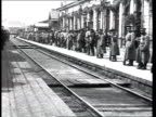 1918 A detachment of anarchists at a train station soldiers on platform