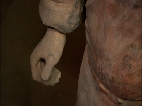 CU detail of Terracotta Warrior hand, Museum of Qin, Xian, China