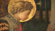 CU ZO Detail of The Annunciation by Fra Filippo Lippi, egg tempera on wood, circa 1450-3 / The National Gallery, London, United Kingdom