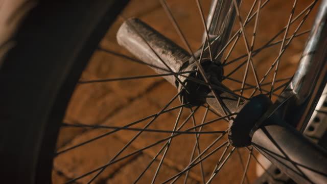 Detail shot of BMX bik