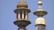 Detailed finials top Brighton's Royal Pavilion. Available in HD.