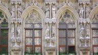 MS Details of Town Hall at Grote Market / Leuven, Brabant, Belgium