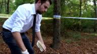 Detective on the crime scene
