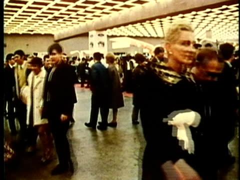 MONTAGE, Detroit Auto Show, 1960's, Detroit, Michigan, USA