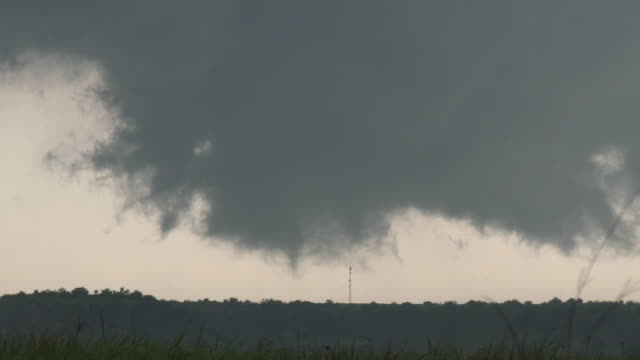 Developing Tornado, Rapidly Rotating Wall Cloud, Supercell Thunderstorm