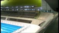 Development of London 2012 Aquatics Centre GVs Aquatics Centre ENGLAND London Stratford Olympic Park INT London 2012 Aquatics Centre with sides...
