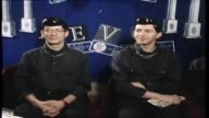 Devo interview with Donnie Sutherland band wearing newlook JFK inspired hairdos re likes and dislikes and the direction of their band