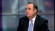 Devolved UK governments demand change in Westminster economic plans ENGLAND London GIR INT Alex Salmond MSP LIVE STUDIO interview SOT
