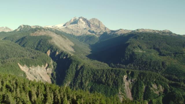 AERIAL Diamond Head, mountains and forest at Garibaldi Provincial Park / Squamish, British Columbia, Canada