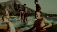 Diamond Head Surfing at Waikiki Beach on August 01 1942 in Oahu Hawaii