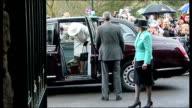 Queen Elizabeth visits Merthyr Tydfil WALES Merthyr Tydfil THROUGHOUT** People standing with umbrellas / Queen Elizabeth II and Prince Philip Duke of...