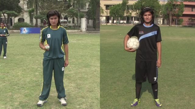 Diana Baig plays for Pakistan's national team in both cricket and football representing her country as part of the World Twenty20 squad recently in...