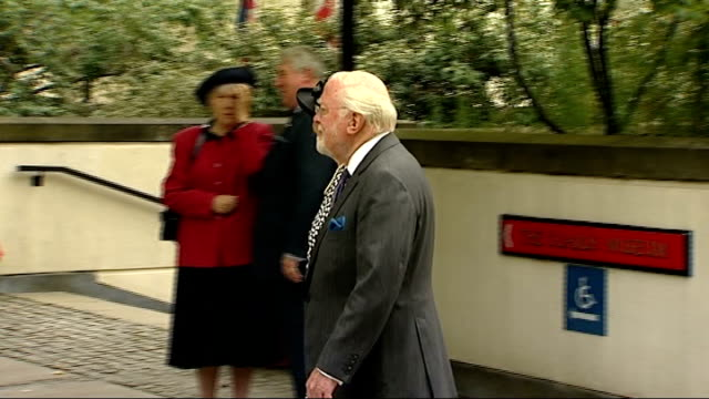 10th anniversary of death Memorial service Arrivals People arriving including Lord Richard Attenborough along holding hands with Lady Attenborough /...