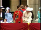 Part 5 S04099701 Royal family make balcony appearance after Trooping the Colour ENGLAND London Buckingham Palace Royal Family leaving balcony as...