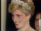 Part 5 SPL0628 Tears Of A Princess Princess Diana Location unknown Close shot of Diana in tiara and pearl earring