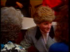 Part 5 SPL0628 Tears Of A Princess Princess Diana with Gulf war soldiers' wives Location unknown Diana in navy blue checked jacket talking to Gulf...