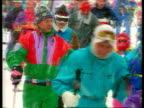 Part 5 T29039205 Princess Diana on skiing holiday AUSTRIA Lech Diana in skiclothes in snowstorm walking towards